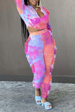 Fungus Edge Tie Dye Two Piece Sets