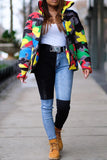 Plus Size Colorful Camouflage Cotton Wadded Jacket