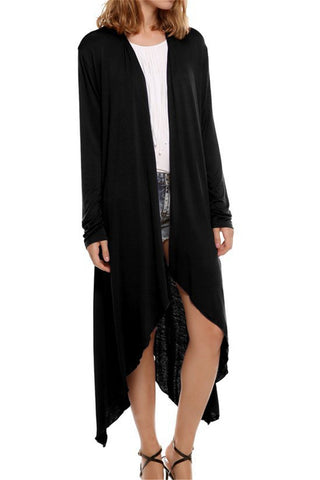 Black Sheer Evening Coat