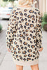 Casual Leopard Print Long Sleeve Cardigan - WHATWEARS