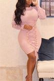 Baby Pink Corset Dress - WHATWEARS