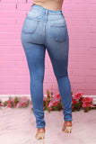 Denim High-elastic High Waist Jeans