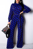 Sexy Pros And Cons Two Wear Print Long Sleeve Casual Jumpsuit