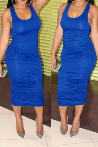 Ruched Bodycon Dress фото
