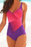 Gradient Color Bandage One Piece - WHATWEARS