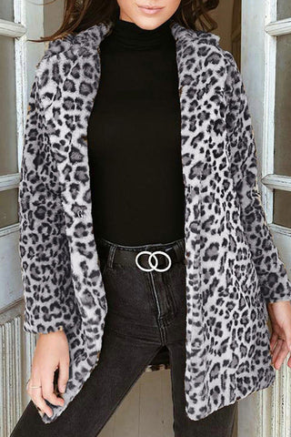 Camouflage Print Ruffle Button Coat With Belt