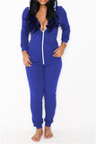 Retro Zipper Front Jumpsuit