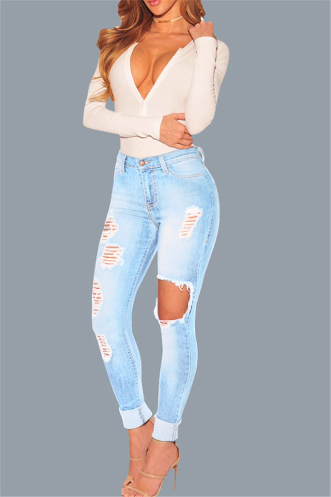 Distressed Nora Jeans - WHATWEARS
