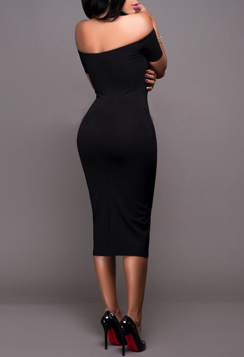Zipper Front Bodycon Dress