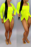 Solid Color Strapless Open Back Two Piece Swimwear
