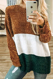 Patchwork Striped Long Sleeve T Shirt