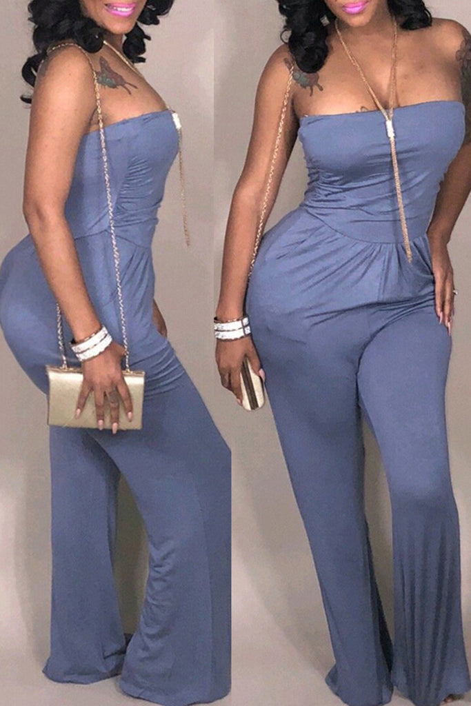 5a89114bfc6c Sexy Solid Off The Shoulder Backless Jumpsuit – WHATWEARS