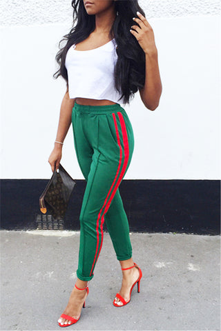 Green and Red Sexy Track Pants фото