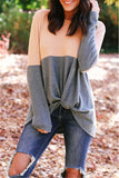 Irregular Patchwork Cashmere Sweater