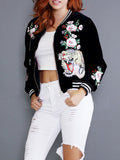 Embroidered Tiger Varsity jacket - WHATWEARS