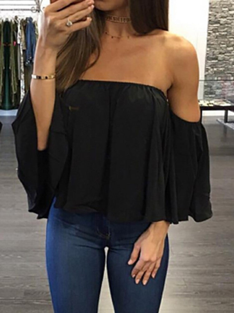Off Shoulder Smock Top