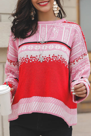 Casual Print Long Sleeve Sweatshirt