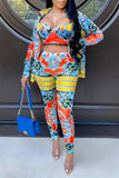 Digital Print High Waist Three Piece Sets