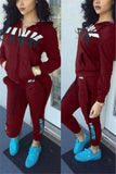 Zipper Front Pocket Hoodie Two-Piece Sets
