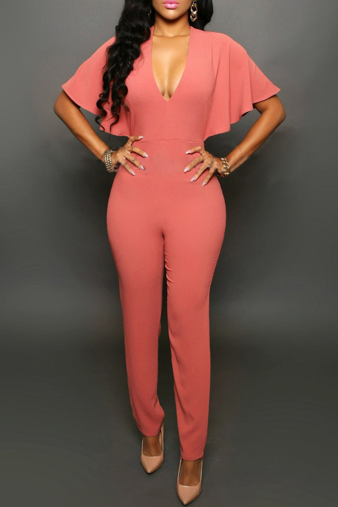 Batwing Sleeve Jumpsuit