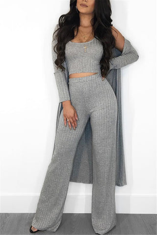 Knitted Off Shoulder Jumpsuit