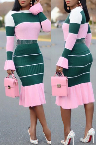 Fashion Ruffle Long Sleeve Two Piece Sets