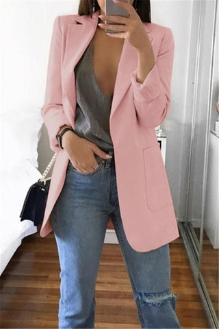Solid Color Irregular Casual Long Sleeve Coat
