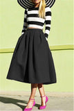 Plain Full Midi Skirt