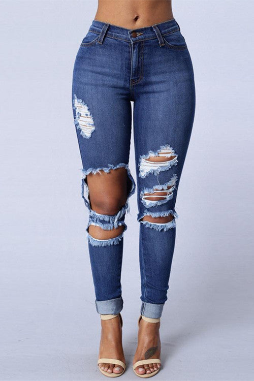Distressed Katy Jeans - WHATWEARS