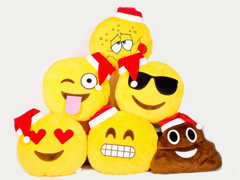 christmas emoji pillows collection