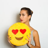 Heart + Kissy emoji pillows valentines day special combo
