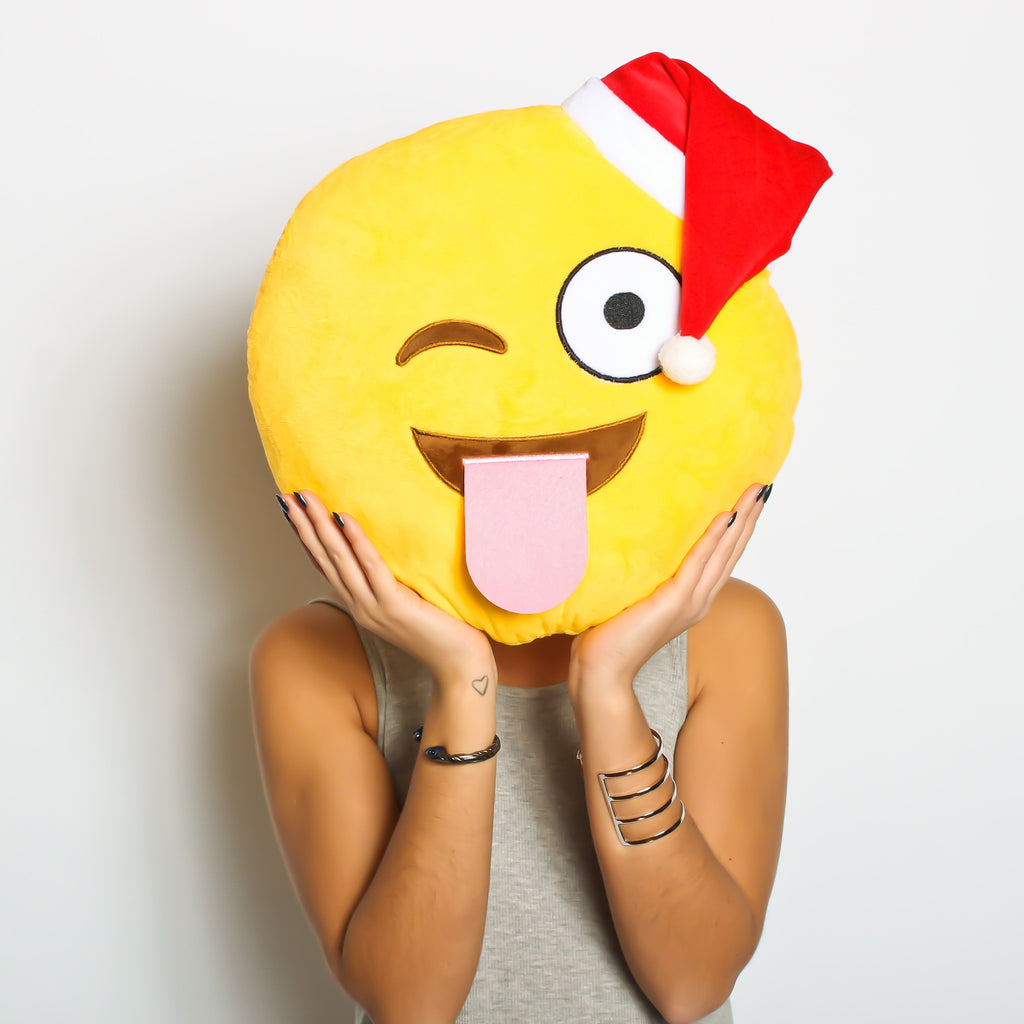 Party time! SPECIAL CHRISTMAS EMOJI - WINKY CHRISTMAS HAT emoji