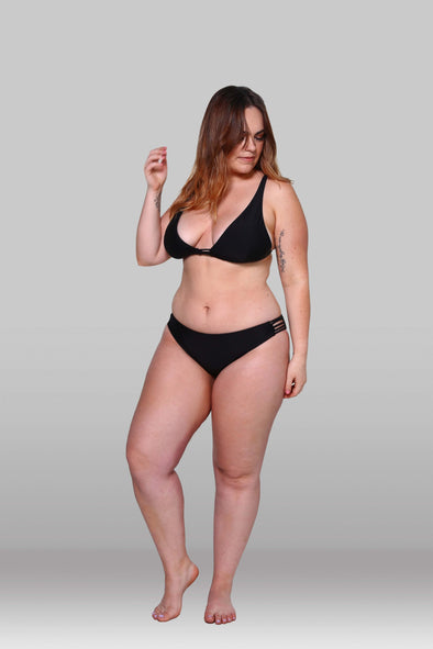 Black 5 Strap Bikini Pant, Bottoms, Hoola Collective - Hoola Collective