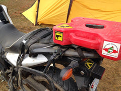 Uprising Soft Rack with Rotopax on Suzuki VStrom 650
