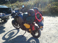 Uprising Luggage System on a Kawasaki KLR 650