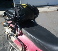 Bag Snake on a Kawasaki KLR 650