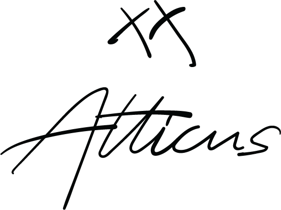 XX Atticus Poetry Logo for the online poetry and Find Your Wild online clothing store