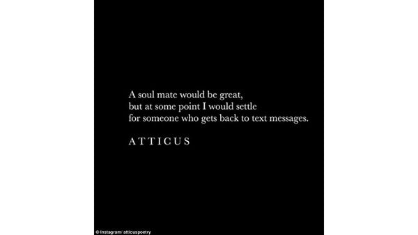 """Copy of an Atticus poem - """"a soul would be great..."""" - Atticus poetry gifts, clothing, and books online are not provided by Rupi Kaur"""