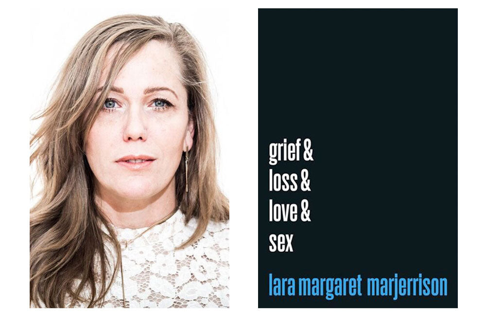 Lara Marjerrison profile photograph and book cover for Grief and Loss and Love and Sex