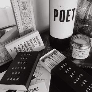 Black and white - Wine - Matches - Love
