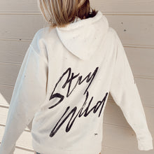 White Stay Wild Hoodie - Atticus Poetry - Shop