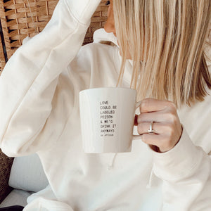 Poetry and coffee - Atticus poetry - girl holding mug