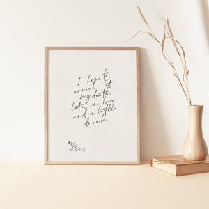 Late in Love - Print