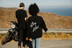 Stay Wild - Black Denim Jacket