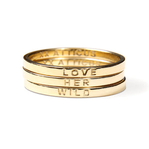 Atticus Poem Rings - Gold Rings - Love Her Wild