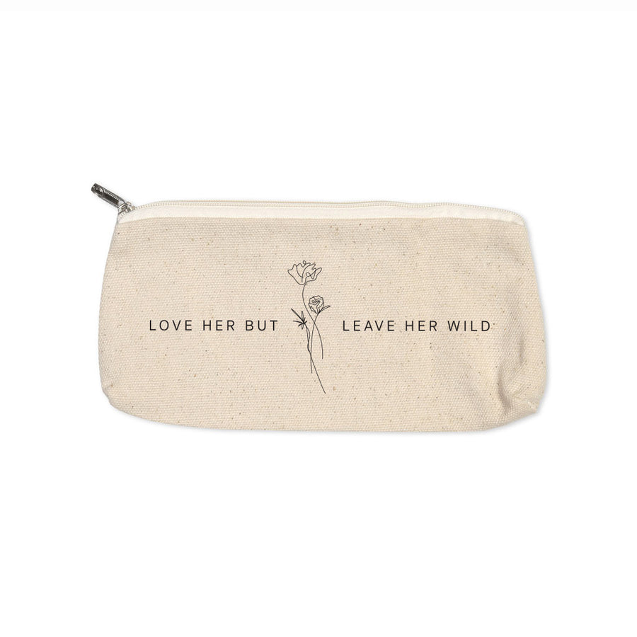 Leave Her Wild - Canvas Pouch