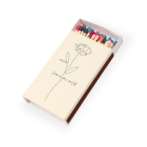 Large matchbox - Atticus poem - rose drawing