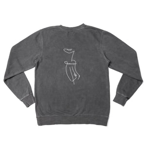 Naked On Cashmere - Embroidered Crew