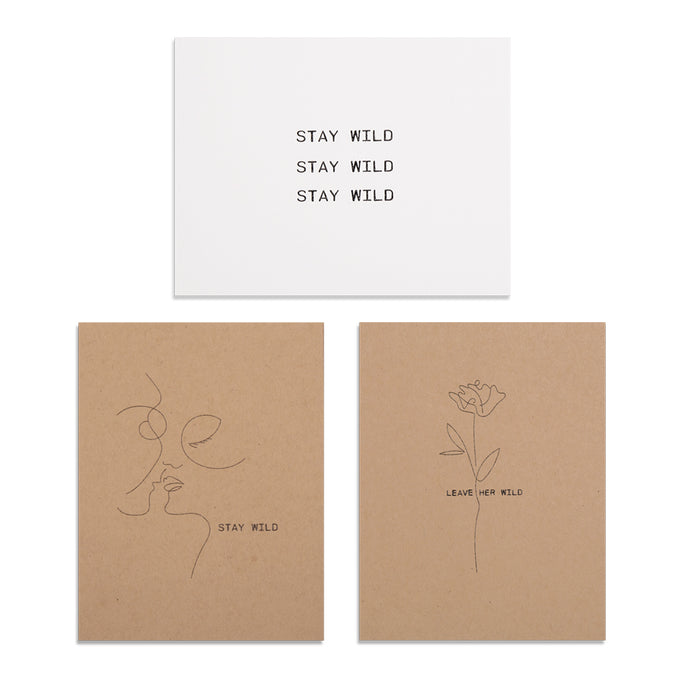 Stay Wild - Stationary Card Set