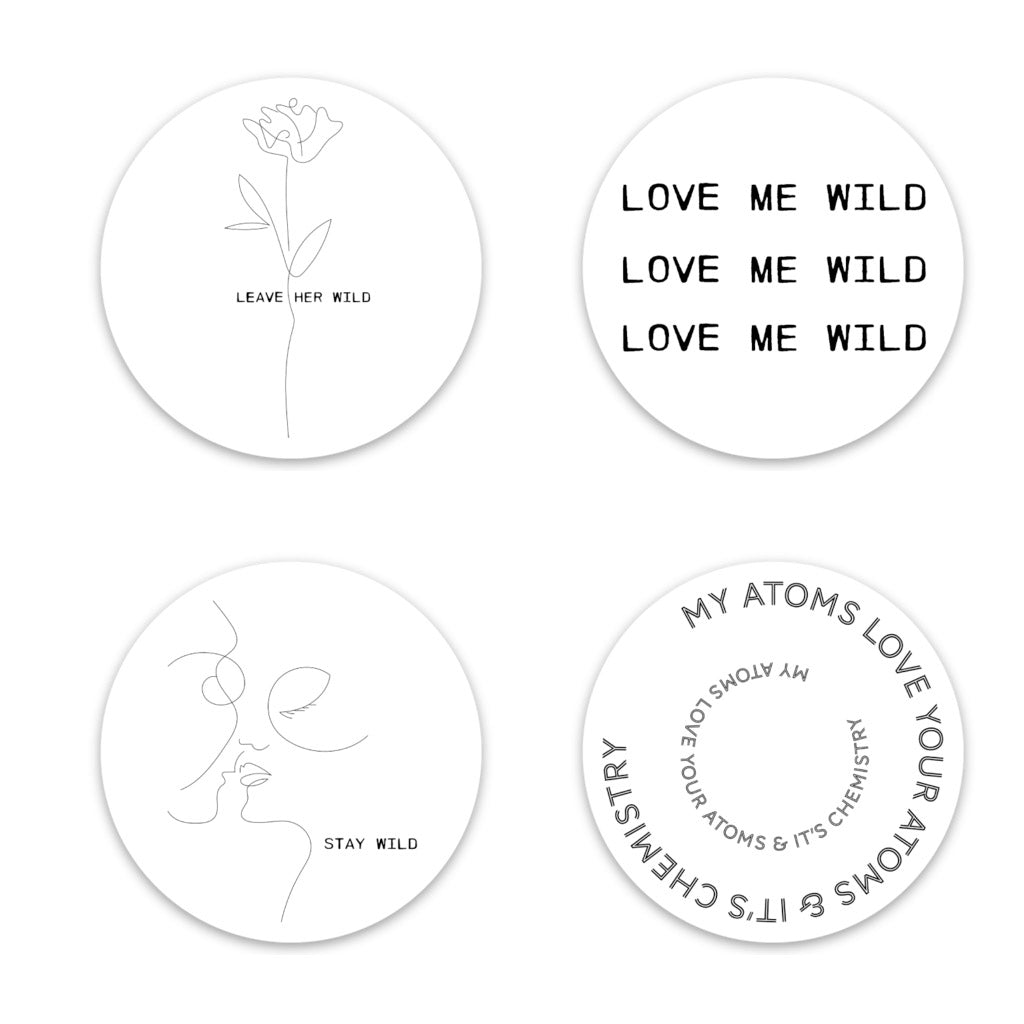 Atticus Circle Sticker Pack (4)